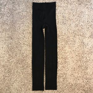 Other - NEW Girls black 7-10 fleece lined footless tights